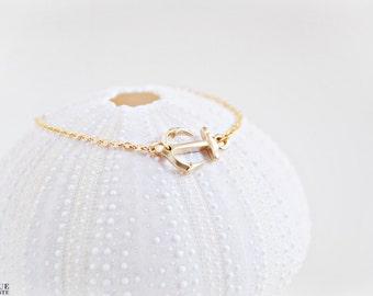 Bracelet ancre Dainty - brillant
