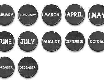 Months Of The Year Magnets - Date Magnets - Chalkboard Magnets -  Calendar Magnets - Educational - Preschool Learning - Learning - Classroom