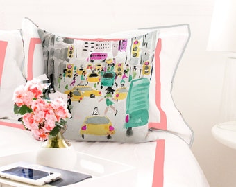 Illustrated Pillow: NYC at Midtown
