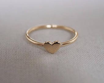 Solid Gold You Are My Heart Ring