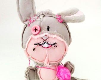 Zombear bunny rabbit - super cute stuffed zombie animal