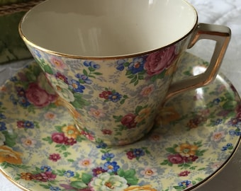 Lord Nelson Ware Chintz Tea Cup and Saucer Set Rose Time