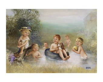The Swimming Pond - Dianne Dengel Print