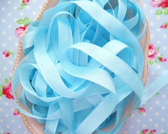 Vintage Style Seam Binding Ribbon - Cotton Candy Aqua - 1/2 inch - 5 Yards
