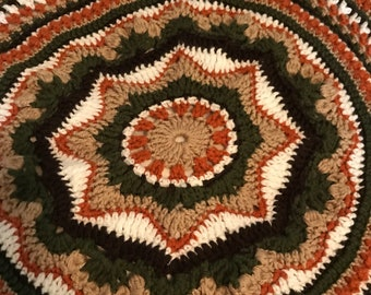 Crocheted circular lapghan - Rings of Change