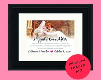 Wedding vows, framed wedding vows, wedding vows framed, wedding vow art, wedding vow print, wedding photo print, framed anniversary, wedding