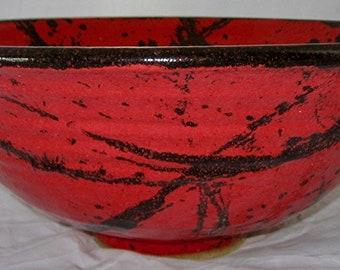 Large Red Vessel Sink