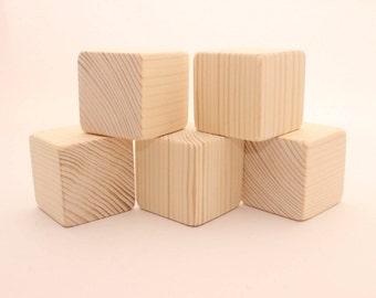 "Unfinished wooden blocks | 2 "" | 5 cm | 2 inch blocks"