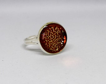 Brown and Gold Ring