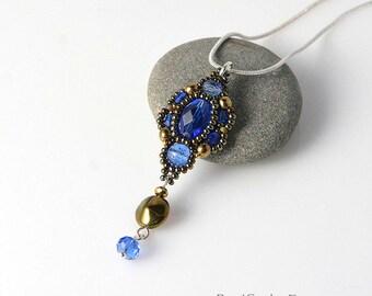 Blue Ocean Beadwoven pendant