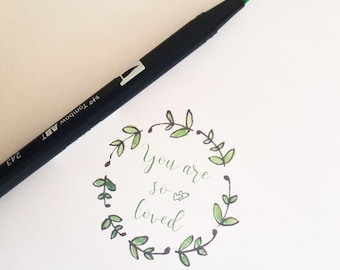 """""""You are so loved"""" card A5 size"""
