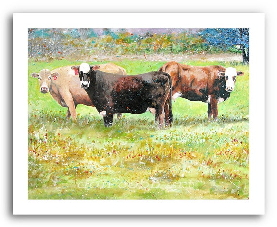 Cow Art Cows At The Villa Prints Signed And