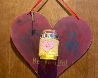 BeYOUtiful Candle/Flower Holder Wall Haning