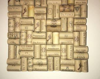 Hanging cork board