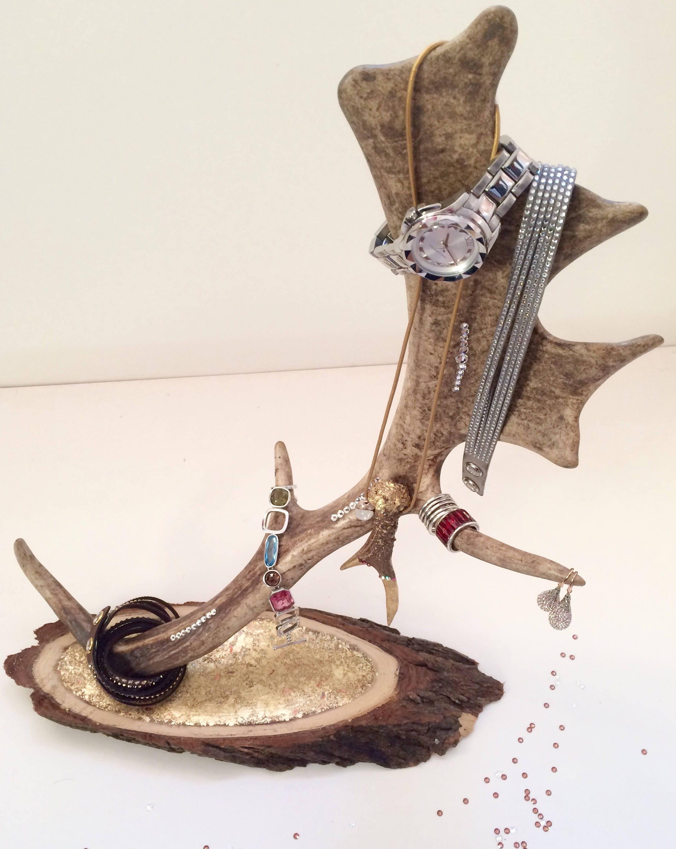 jewellery stag with swarovski elements jewel deer antlers
