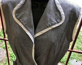 Vintage sleeveless summer top 1940's top 40's cotton