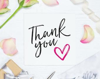 Wedding thank you card, thank you bridesmaid gift, thanks