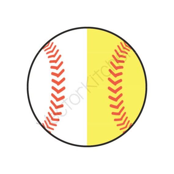 split half baseball softball ball cutting template svg eps rh etsy com