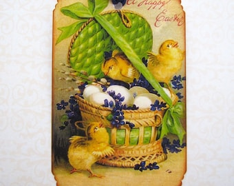 Victorian Postcard Easter Tags
