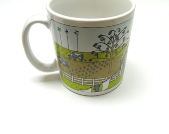 Coffee Cup Mug Taylor & Ng San Francisco 1980 Farm Scene