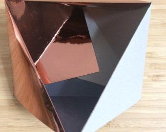 Origami Bowl Ornament || Copper Grey Small