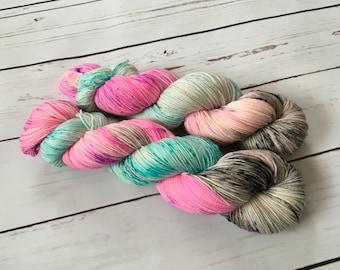 Hand Dyed Superwash BFL/ Nylon Sock Yarn