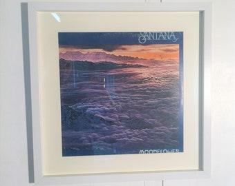 Vintage Original Album Artwork Framed Wall Art- Santana Moonflower 1977