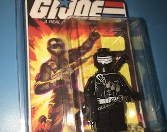 GI Joe Cobra SNAKE EYES Ninja Master Custom Comic Book Tv Cartoon Minifigure