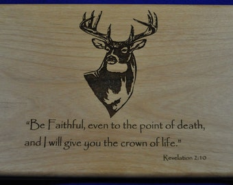 Confirmation Gift ~ Wood Valet ~ Gift For Confirmation ~ Christian Gifts ~ Engraved Wood Box ~ First Communion Gift ~ Gift For Pastor ~ Box