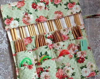 Knitting Needle Case - Needle Storage Case - Needle Case - Circular Needle Storage - Double Pointed Needle Storage - Needle Roll