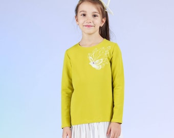 Chrystal Birdie - children's dress with tulle frill