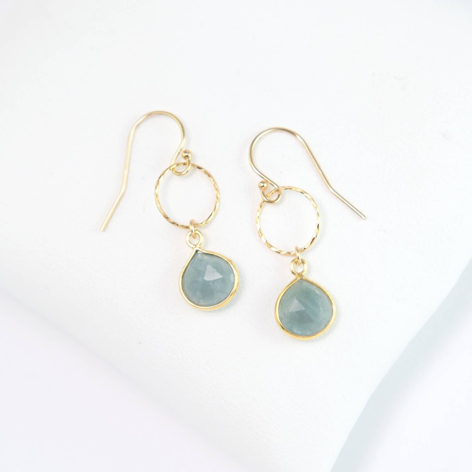 white aquamarine products genuine gold lirysjewelry earrings img