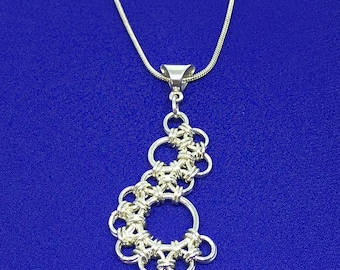 "Chainmaille Pendant ""S"" Shaped"