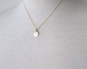 Simple Circle Necklace | Hand Stamped Charm Necklace