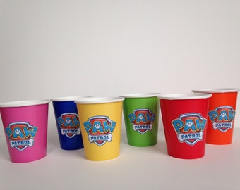 Paw Patrol Birthday Party Cups, drinking cups party supplies, set of 10