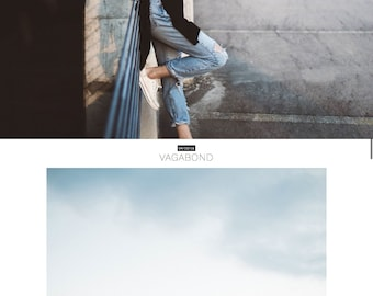 "Responsive Wordpress Theme ""Florentins"" // Photography Style Instant Digital Download Premade Blog Template Design"
