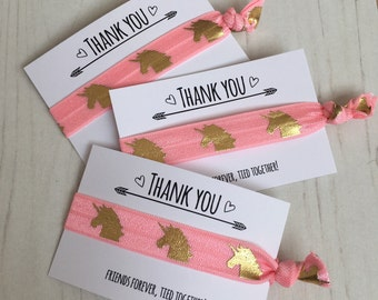 Unicorn hair ties   wristbands   thank you party favour   party bag filler