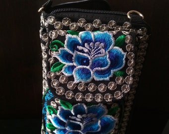 Blue Spirit Handcrafted Embroidered Wallet