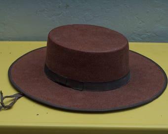 Vintage Sombreros Alderet flat brim - Spanish Style