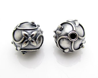 1 Pc, 11.6mm, Sterling Silver Bead