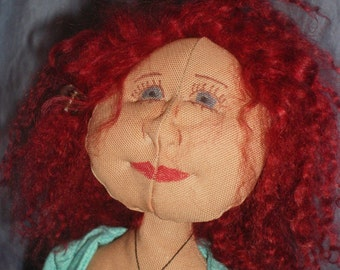 Hippie doll with turquoise dress