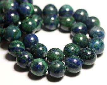 Stone - Chrysocolla ball 14mm - 4558550012289 2PC - bead