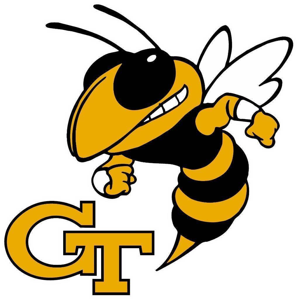 GT GEORGIA Tech Yellow Jackets Large Buzz Cornhole Decals /