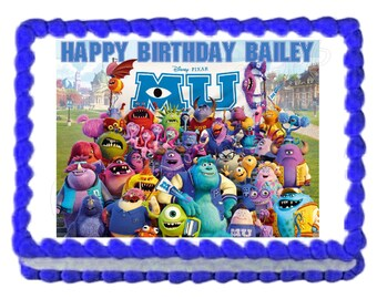 Monsters University party decoration edible cake image cake topper frosting sheet