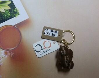 Squirrel 3D Print Keychain - Bronze