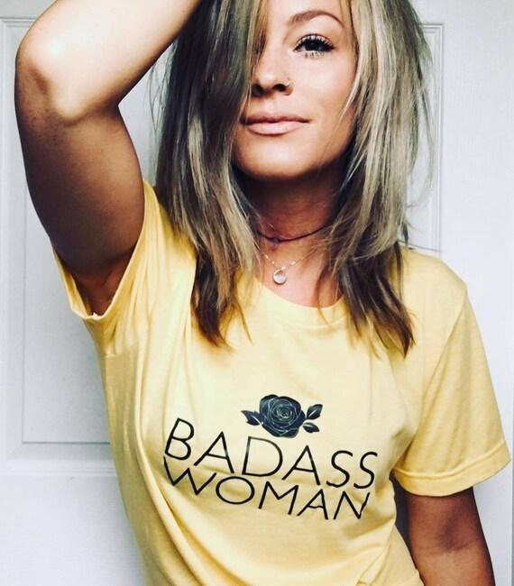BADASS WOMAN, Badass Woman Tshirt, Badass Women Tshirt, Badass Shirts, Rose Tank, Rose Tops