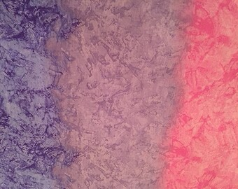 Ombre Lavender Purple PInk Tri Color Ombre Quilting Cotton BTY