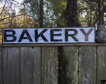 Bakery sign,Fixer Upper Inspired Signs,45x7.25, Rustic Wood Signs, Farmhouse Signs, Wall Décor