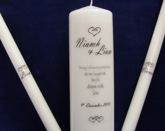 This Day I Will Marry my Best Friend Personalised Wedding Candle Unity Set