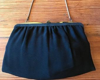 Elegant balck vintage evening bag, purse